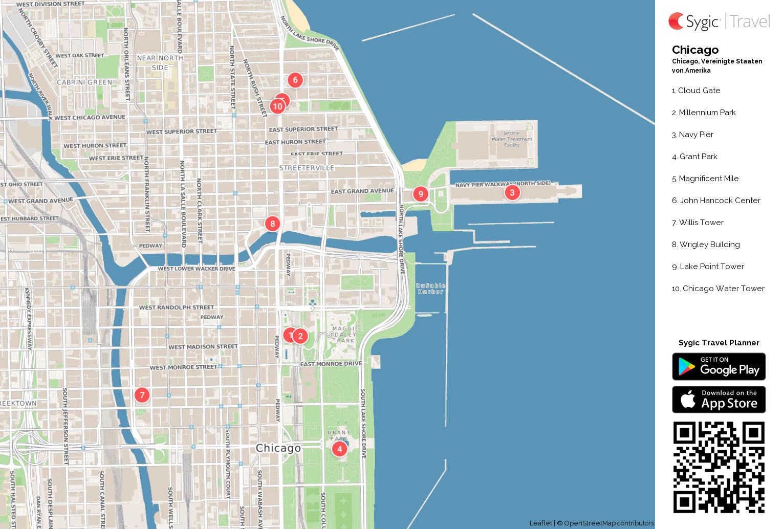 chicago karte Karte von Chicago ausdrucken | Sygic Travel