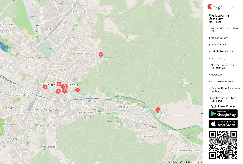 Freiburg Karte.Karte Von Freiburg Im Breisgau Ausdrucken Sygic Travel
