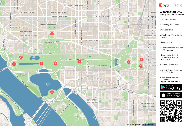 Washington Dc Karte.Karte Von Washington D C Ausdrucken Sygic Travel