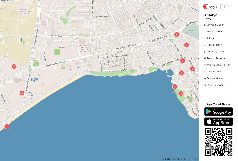 antalya-printable-tourist-map