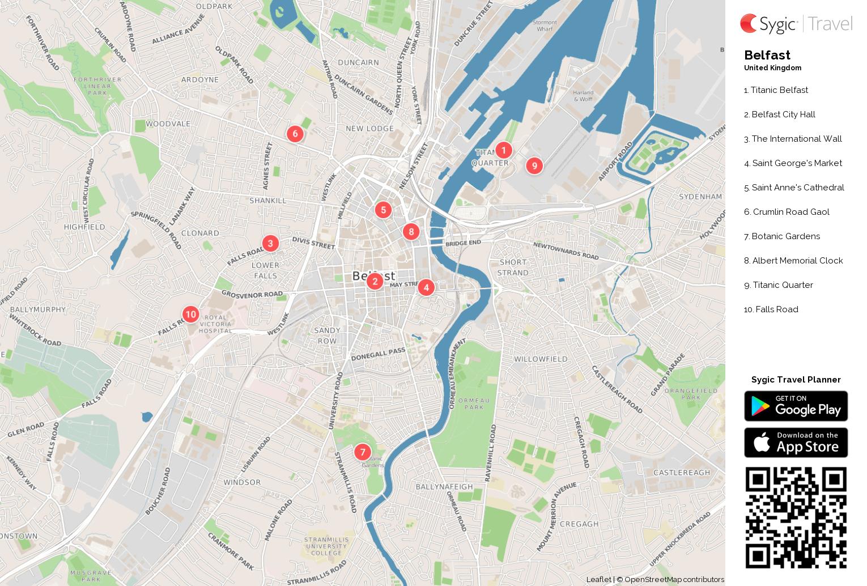 Belfast Printable Tourist Map Sygic Travel