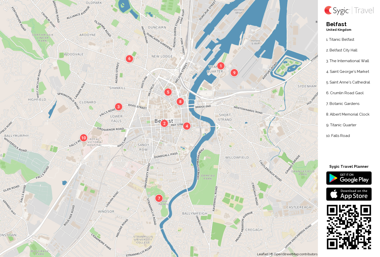 Belfast Printable Tourist Map | Sygic Travel