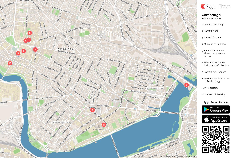 Printable Map Of Harvard University Sham Store