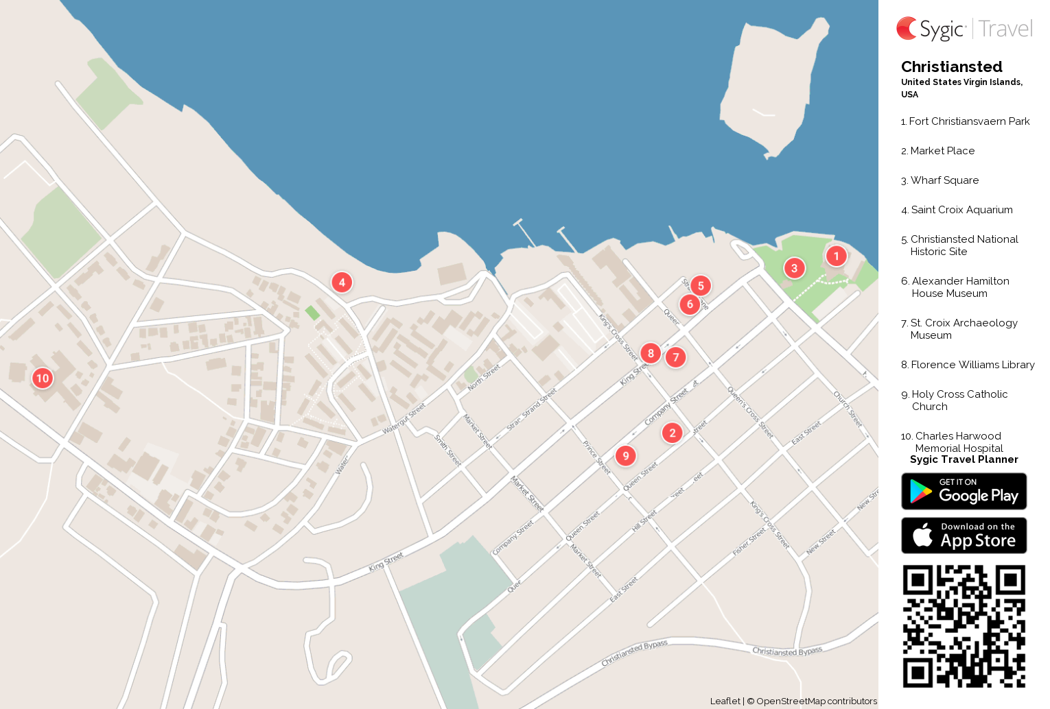 christiansted-printable-tourist-map