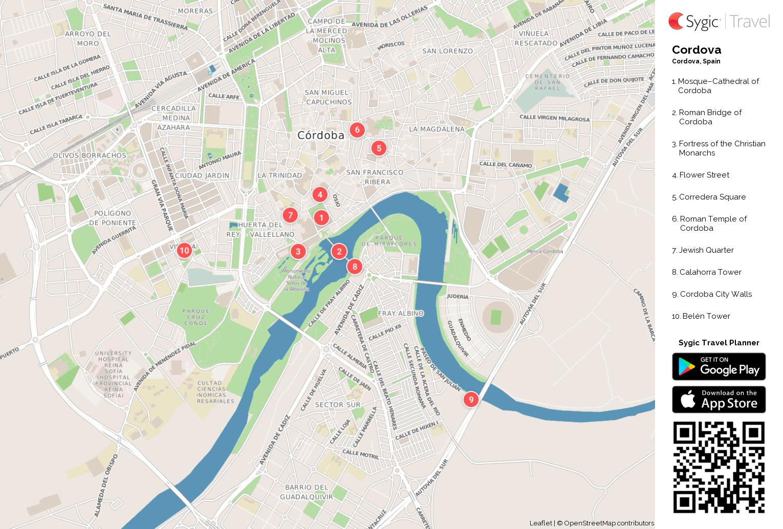 Cordova Printable Tourist Map Sygic Travel