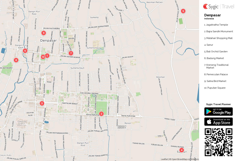 denpasar-printable-tourist-map