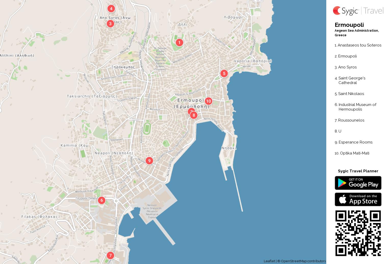 ermoupoli-printable-tourist-map