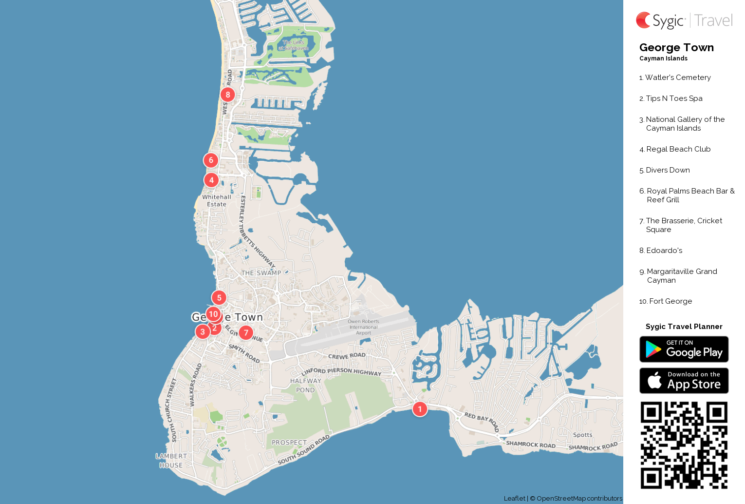 George Town Printable Tourist Map Sygic Travel