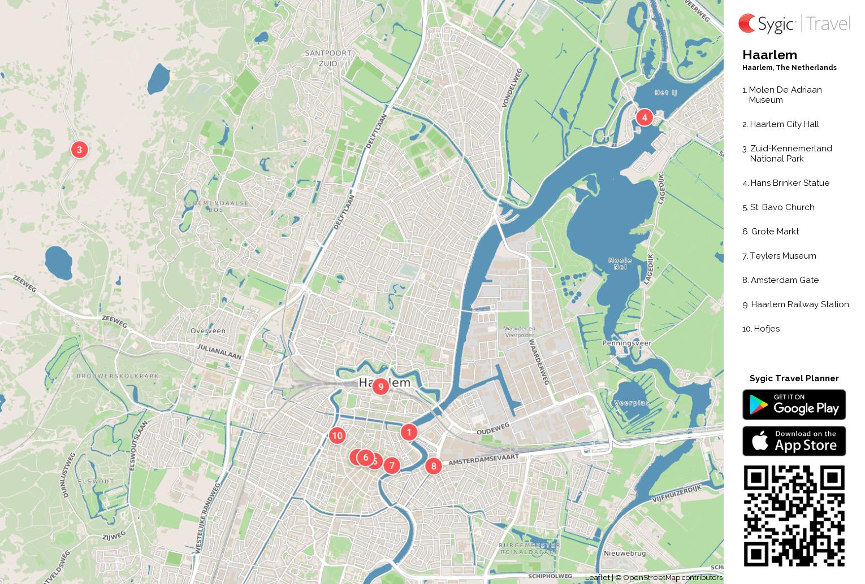 Haarlem Printable Tourist Map Sygic Travel
