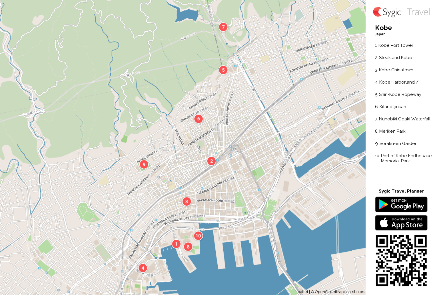 kobe-printable-tourist-map