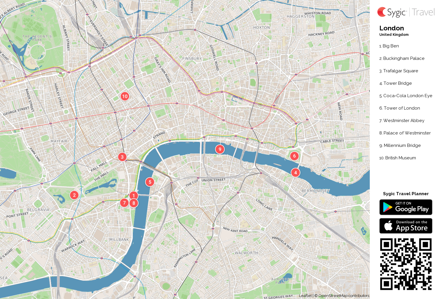 London Printable Tourist Map – Tourist Maps of London