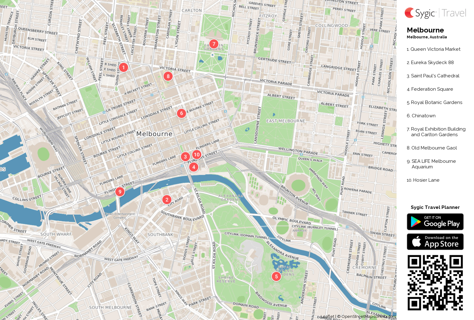 Melbourne Printable Tourist Map – Melbourne Map For Tourist