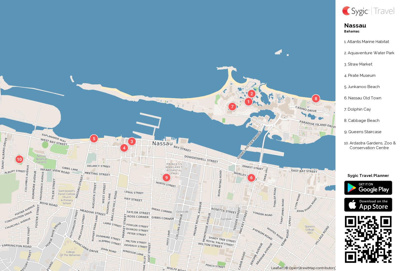 Nassau printable tourist map sygic travel nassau printable tourist map gumiabroncs Image collections