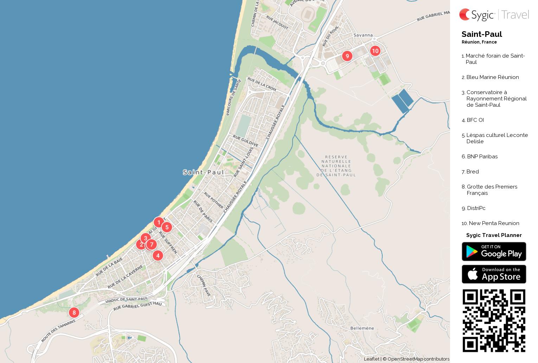 SaintPaul Printable Tourist Map Sygic Travel