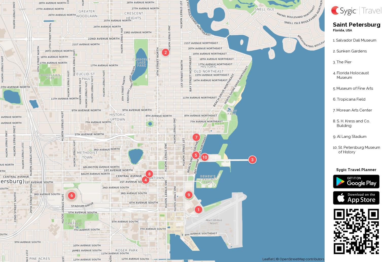 Saint Petersburg Printable Tourist Map Sygic Travel