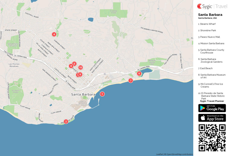 santa-barbara-printable-tourist-map