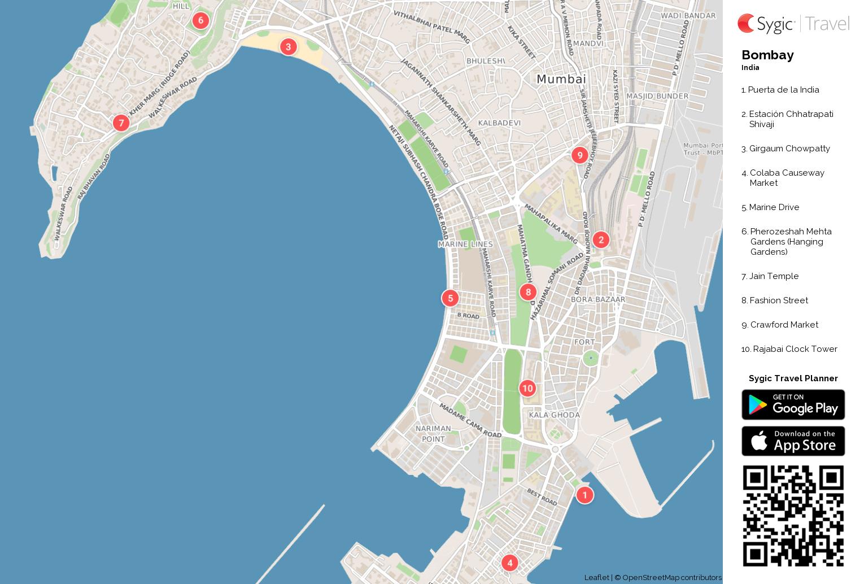Bombay mapa turstico para imprimir sygic travel bombay mapa turstico para imprimir gumiabroncs Gallery