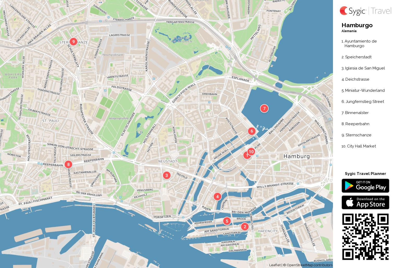 Mapa Turistico De Copenhague.Hamburgo Mapa Turistico Para Imprimir Sygic Travel