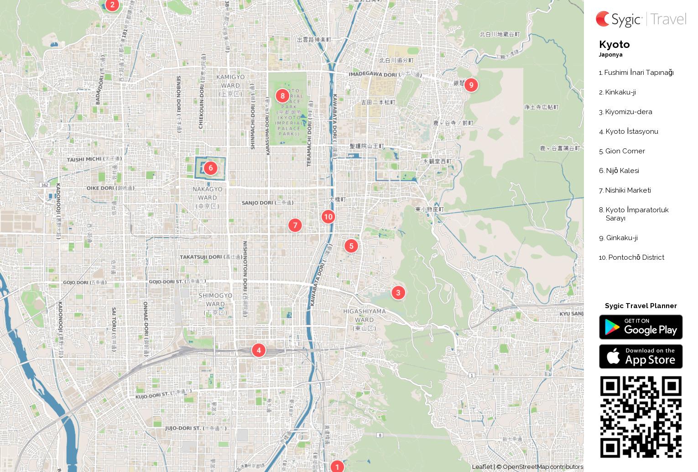 kyoto-yazdirilabilen-turistik-harita