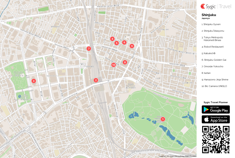 shinjuku-yazdirilabilen-turistik-harita
