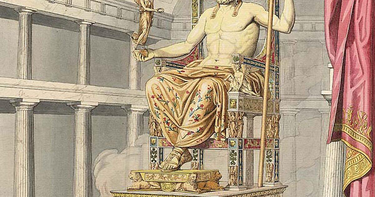 Картинки статуя зевса олимпии