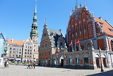 Riga Printable Tourist Map Sygic Travel - Old riga map