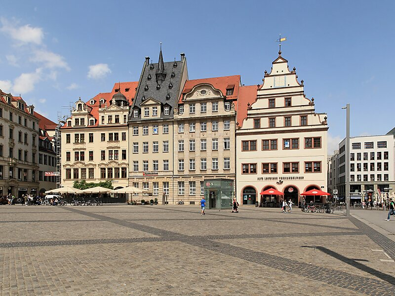 markt in leipzig deutschland sygic travel. Black Bedroom Furniture Sets. Home Design Ideas