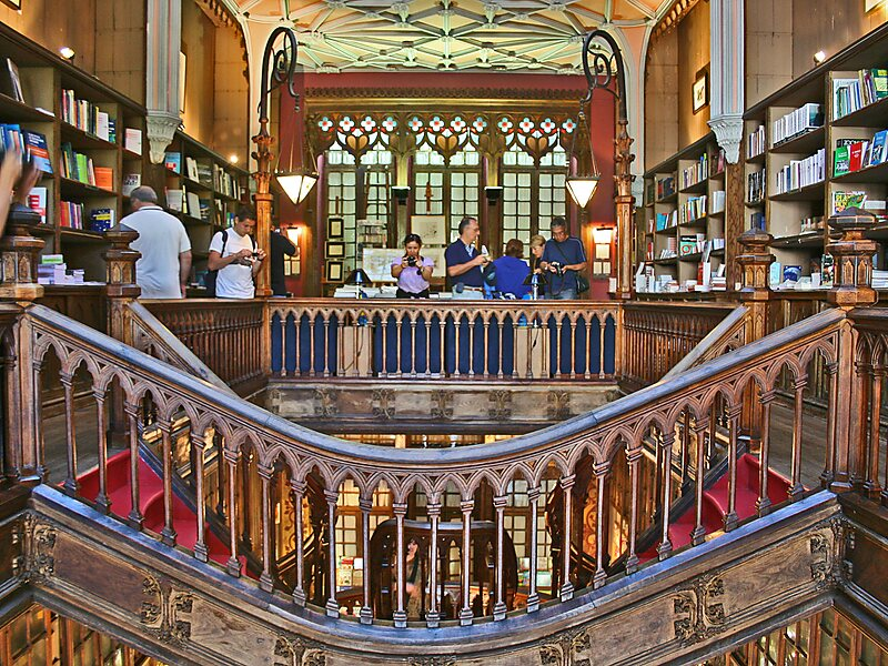 Image result for non copyrighted image Livraria Lello