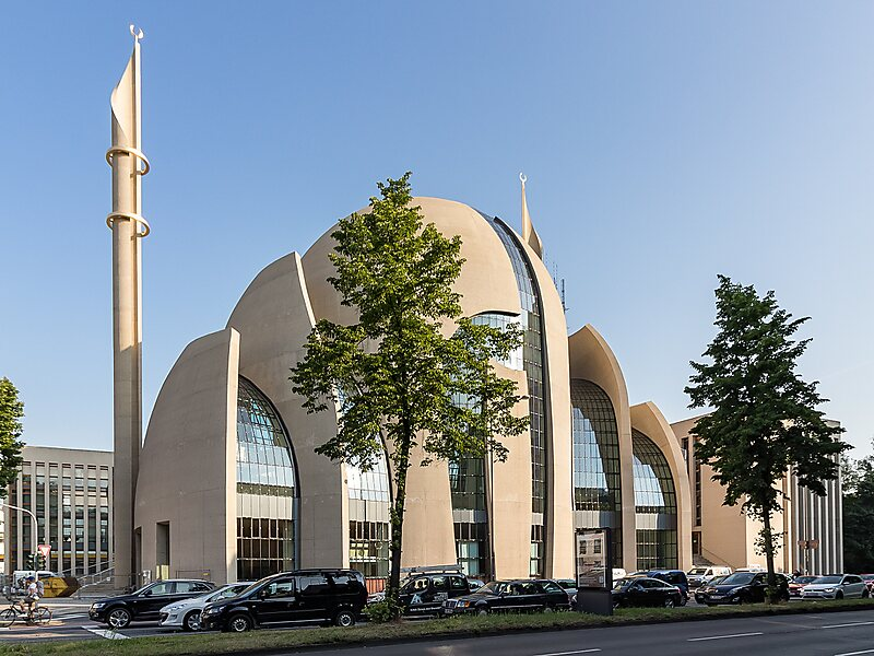 cologne central mosque in cologne germany sygic travel