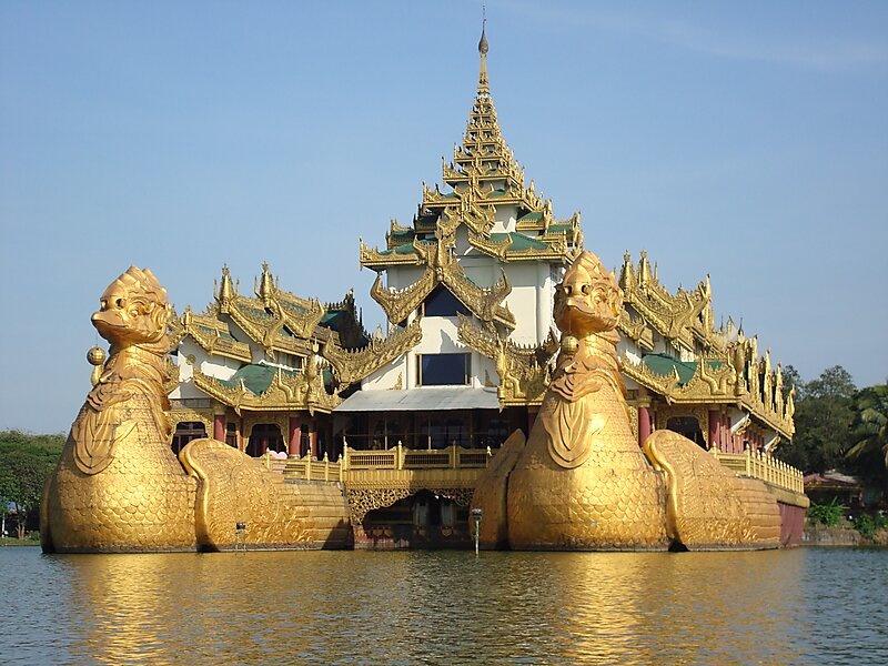 Karaweik Palace Restaurant In Yangon Myanmar Sygic Travel