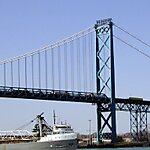 Ambassador Bridge  Detroit, USA