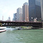 Michigan Avenue Bridge Dock Chicago, USA
