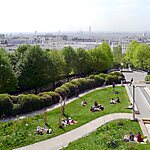 Parc de Belleville Paris, France