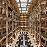 The George Peabody Library Baltimore, USA